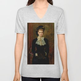 "John Everett Millais ""Countess de Pourtales, the former Mrs Sebastian Schlesinger"" Unisex V-Neck"