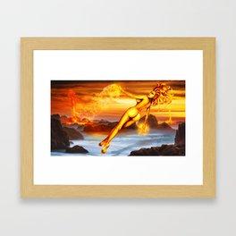 Mara the goddess of fire Framed Art Print