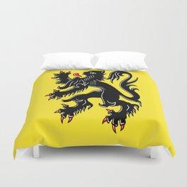 Flag of Flanders - Belgium,Belgian,vlaanderen,Vlaam,Oostende,Antwerpen,Gent,Beveren,Brussels,flamish Duvet Cover