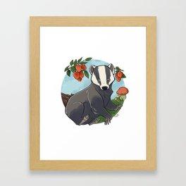Autumnal Badger Framed Art Print