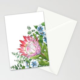Watercolor Protea Illustration Stationery Cards