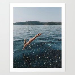 Magic ocean Art Print