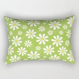 DAISIES ON APPLE GREEN Rectangular Pillow