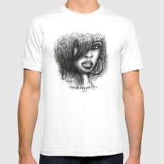I love the way you lie. MEDIUM White Mens Fitted Tee