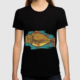 Large carp fish T-shirt