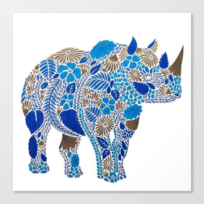 Rhino Leinwanddruck