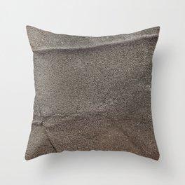 Crumpled Sandpaper Texture Throw Pillow