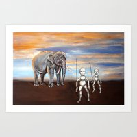 The Elephant King Art Print