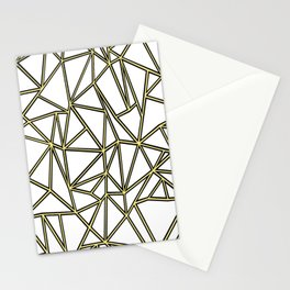 Ab Blocks White Gold Stationery Cards