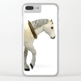 Wooden Plow Horse Clear iPhone Case