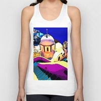 greece Tank Tops featuring Colorful Greece by E.M. Shafer
