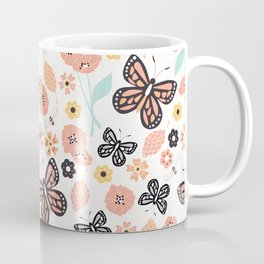 Flowers and butterflies pattern 003 Coffee Mug