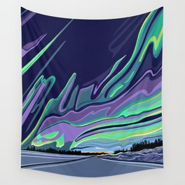 Road to Aurora Wall Tapestry