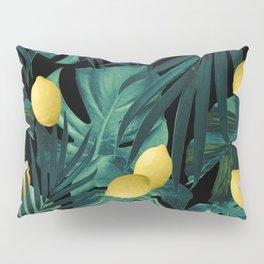 Tropical Lemon Twist Jungle Night #1 #tropical #decor #art #society6 Pillow Sham