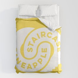 PineappleStaircase   Official Logocolor 2016 in Yellow/White Duvet Cover