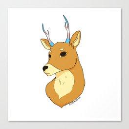 Transgender Pride Deer Canvas Print