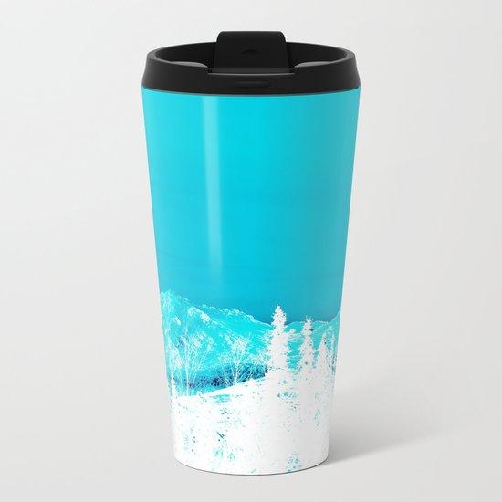 Turquoise Alaska - Pop Art I Metal Travel Mug