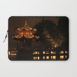Chinese Pagoda on Lake Laptop Sleeve