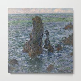 The 'Pyramids' of Port Coton, Belle-Ile-en-Mer Metal Print