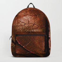 MACHO MANS ART OLD LEATHERY BROWN LEAF Backpack