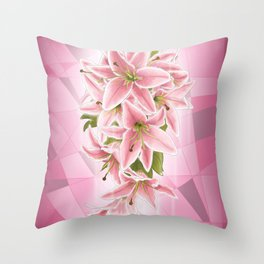 Lilies of Purity and Prosperity Throw Pillow