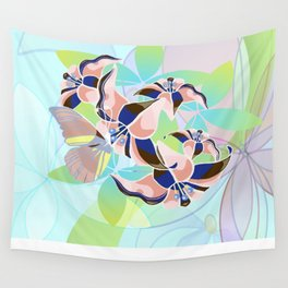 Tanz der Lilien - Dance of the Lilies Wall Tapestry
