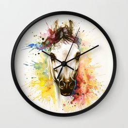"""Into the mirror"" n°2 The horse Wall Clock"