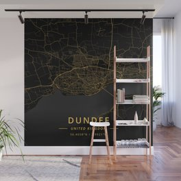 Dundee, United Kingdom - Gold Wall Mural