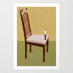 That's a big chair. Art Print