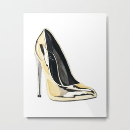 Gold Pump Metal Print