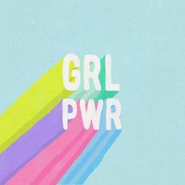 Framed Art Print - GRL PWR x Blue - FrankiePrintCo