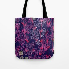 chalk flowers Tote Bag