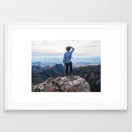 Emory Peak Framed Art Print
