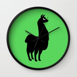 Angry Animals: llama Wall Clock