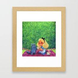 Alice Tea Party Framed Art Print