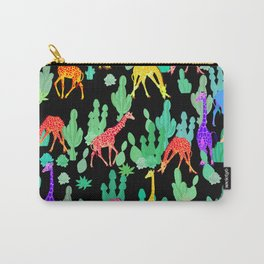 giraffe with cactus Carry-All Pouch