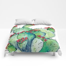 Blossoming Cacts Comforters