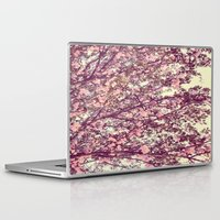 sofa Laptop & iPad Skins featuring floral sofa by vibeyantlers