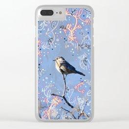 Little Bluebird in the Sun Clear iPhone Case
