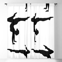B&W Contortionist Blackout Curtain