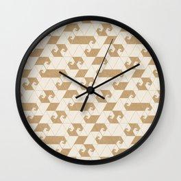 Fractal Wave L Wall Clock