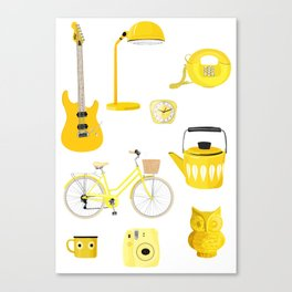 Yellow Collection Canvas Print