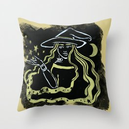 Shadow Witch Throw Pillow