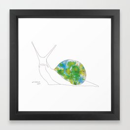 swirls - snail Framed Art Print
