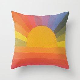 Abstract Rainbow love Throw Pillow