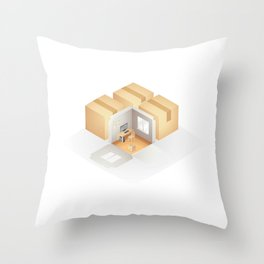 Home box /Marek/ Throw Pillow