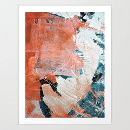 Interrupt [2]: a pretty minimal abstract acrylic piece in pink white and blue by Alyssa Hamilton Art Art Print