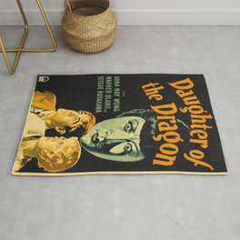 Vintage poster - Daughter of the Dragon Rug