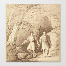 Alcibiades And Timon  by Richard Westall Canvas Print