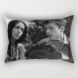 Bob Dylan and Joan Baez at the March on Washington, 1963 Rectangular Pillow